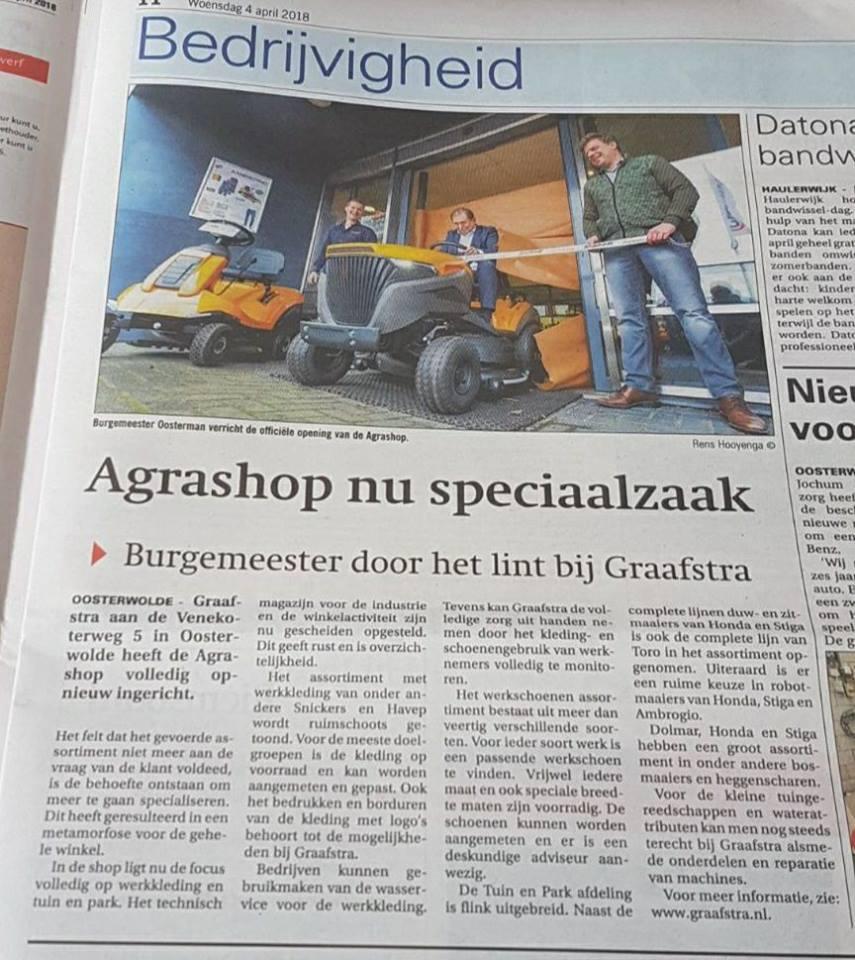 Burgemeester gaat door het lint bij Graafstra